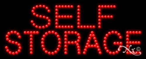 11x27x1 inches Self Storage Animated Flashing LED Window Sign by Light Master