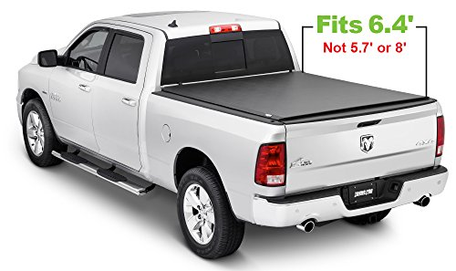 Tonno Pro LR-2015 Lo-Roll Black Roll-Up Truck Bed Tonneau Cover 2009-2018 Dodge Ram 1500, 2010-2018 Dodge Ram 2500, 3500 | Fits 6.4' Bed (Excludes Beds with RamBox)