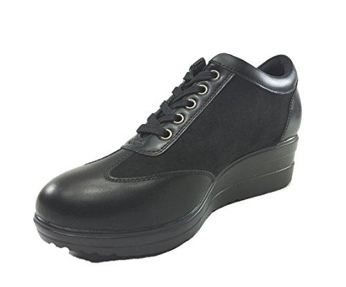senza marca - Zapatos de cordones de Material Sintético para mujer negro