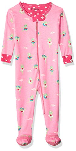 - Hatley Baby Girls Organic Cotton Footed Sleepers, Princess Frogs, 12-18 Months