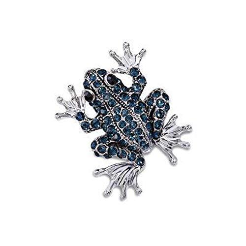 Jewelry Enamel Pin Crystal Rhinestone Frog Brooch Lapel Pin Men Brooch Broche Vintage an