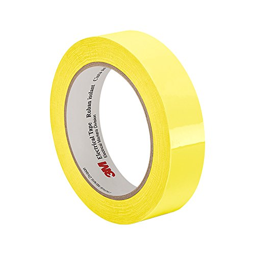 3M 56 Yellow Polyester Film Electrical Tape, 0.94″ width x 72yd length (1 roll)