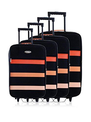 Challenger 130026 4 Semirrígidos Trolleys naranja De Set Negro PqxTrPg