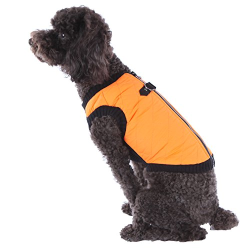 Cheap Gooby Warm Winter Quilted Jacket Vest Padded Zip Up D-Ring Fashion Clothes for Dogs (Large, Orange)