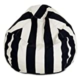 Majestic Home Goods Black Vertical Stripe Small Bean Bag
