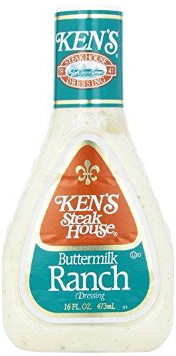 Ken's Buttermilk Ranch Dressing 16 oz, Gluten Free (Pack of 2) ()