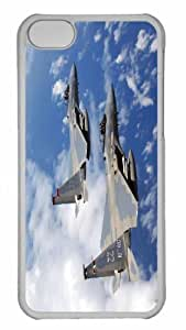 Customized iphone 5C PC Transparent Case - War Airplane 59 Personalized Cover