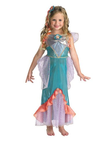 [Ariel Deluxe - Size: 3T-4T] (Ariel Costumes Toddler)