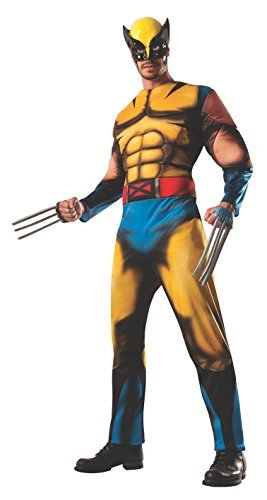 Marvel Muscle Chest Deluxe Wolverine Adult Costume - One Size Fits Most by Wolverine - Wolverine Adult Costumes