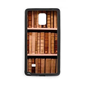 bookshelf style Cheap Custom Cell Phone Case Cover for Samsung Galaxy Note 4, bookshelf style Galaxy Note 4 Case