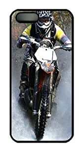 Sexy iPhone 5S Cases and Covers Motocross Motorcycle Sport Custom Hard Case for iPhone 5S/5 PC Black