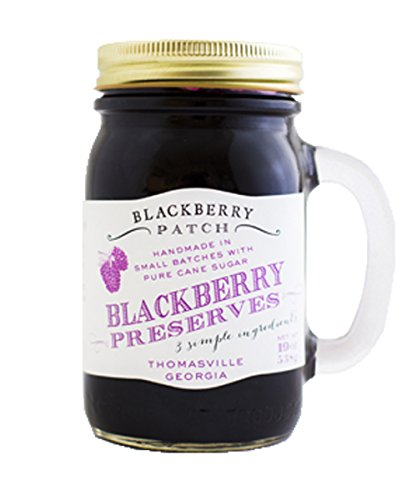 BlackBerry Patch Handled Mug Blackberry Fruit Preserves All Natural Hand Made in Small Batches | Makes a great ice cream topping milkshake flavoring (Blackberry, 19 Fl oz)