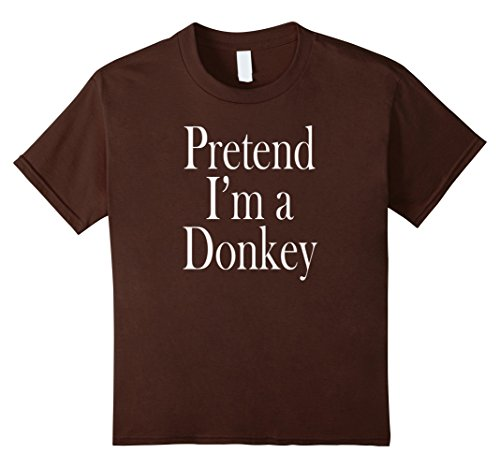 Kids A Donkey Costume T-Shirt for the Last Minute Party 6 (Childs Brown Donkey Costume)