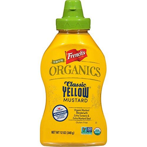 - French's True Organics Classic Yellow Mustard (Organic Yellow Mustard, Non GMO), 12 oz