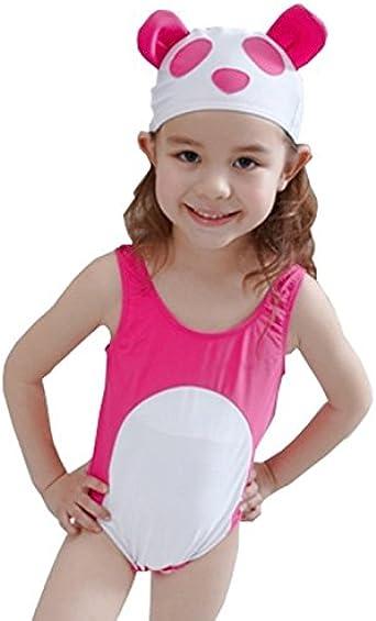 Amazon.com: QRH pequeño tapón de niñas Bañador traje de baño ...