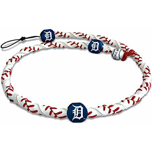 MLB Detroit Tigers Classic Frozen Rope Baseball Necklace (Genuine Necklace Mlb)