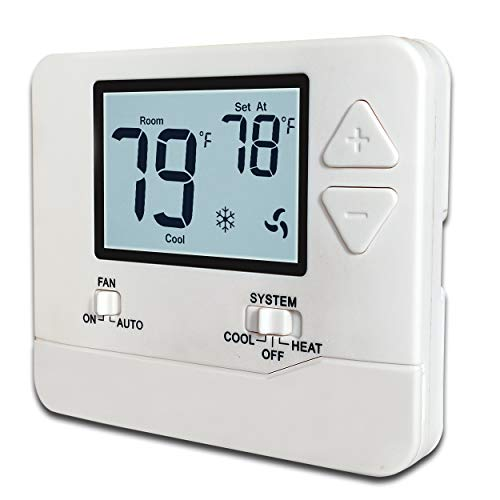 (Heagstat H701 Non-Programmable Electronic Thermostat, Up To 1 Heat/1 Cool, with 4.5 sq. inch Display)