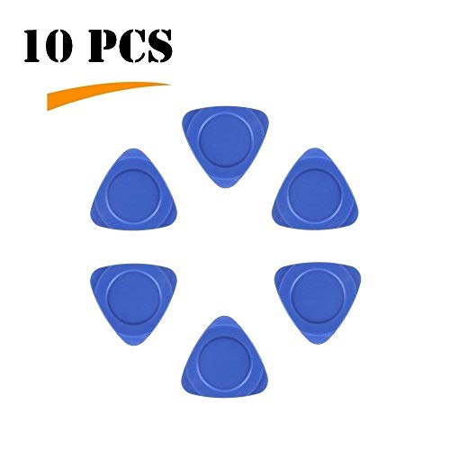 (Fixinus 10 Pieces Universal Triangle Plastic Pry Opening Tool for iPhone Mobile Phone Laptop Table LCD Screen Case Disassembly Blue Guitar Picks)