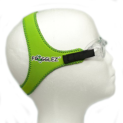 Green Comfortable Frogglez Universal Swimming Goggles Strap for Kids - no goggles included
