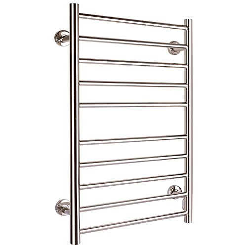 Hromee Radiant Hardwired Straight Towel Warmer, Polished by Hromee