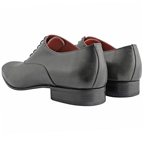 Exclusif Paris Exclusif Paris Miro, Chaussures homme Chaussures de ville - Zapatos de Cordones de cuero Hombre gris