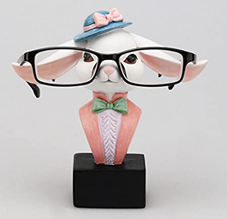Decorative Glasses Spectacle Display Stand Rack Gifts white rabbit Bamboos Grocery Rabbit Eyeglasses Sunglasses Holder Bamboo/'s Grocery