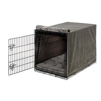 Bowsers Luxury Crate Cover, XX-Large, Pewter Bones