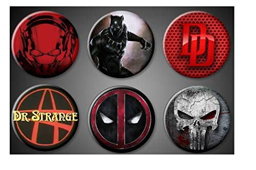 Marvel Superhero Magnets Ant-Man DareDevil Punisher Black Panther Deadpool Dr. Strange Fridge Board 1