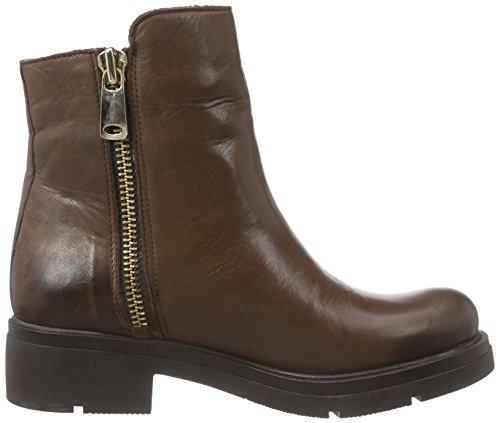 Inuovo FOSHEEZY - botas de cuero mujer marrón - marrón (Dark Brown)