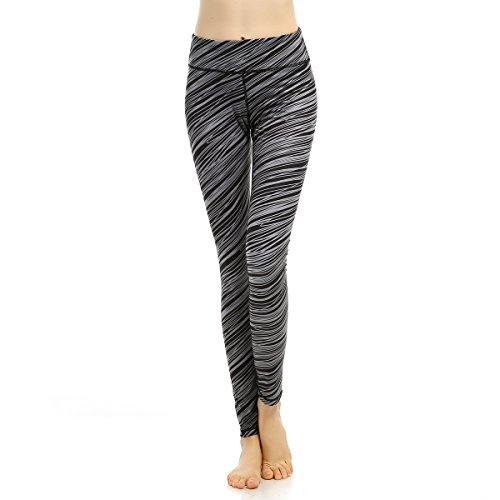 X-Fit Sports Yoga Leggings Spandex Running Workout Pants Women Yoga Pants Hidden Pocket (X-large, Grey) Lycra Workout Pants