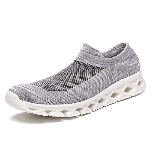 (Socks Walking Shoes Women Men - Fashion Causal Lightweight Breathable Mesh Slip On Running Sneakers)