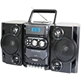 Naxa NPB-428 Portable Boombox AM/FM Radio MP3/CD Player & Cassette Recorder Consumer Electronics (Old Model)