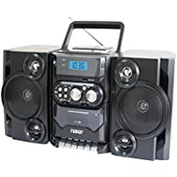 Naxa NPB-428 Portable Boombox AM/FM Radio MP3/CD Player & Cassette Recorder Consumer Electronics (Old Model)