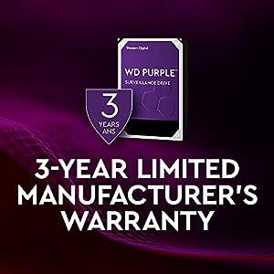 """WD Purple 10TB Surveillance Hard Drive - 7200 RPM Class, SATA 6 Gb/s, 256 MB Cache, 3.5"""" - WD102PURZ"""