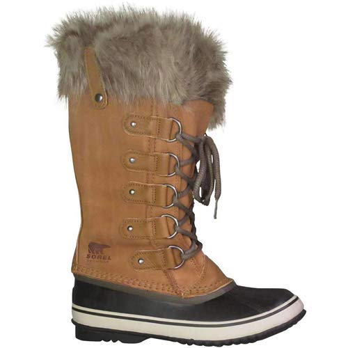 (Sorel Joan of Arctic Fur Waterproof Suede Boot, 10, Brown)