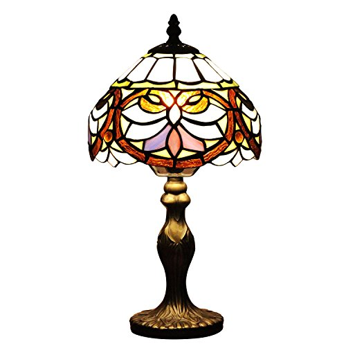 U-Taste Tiffany Style Lamp with 8-Inch Baroque Shade 15-Inch Height