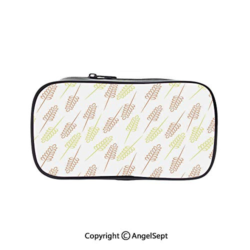 Cute Pencil Case - High Capacity,Pattern with Wheat
