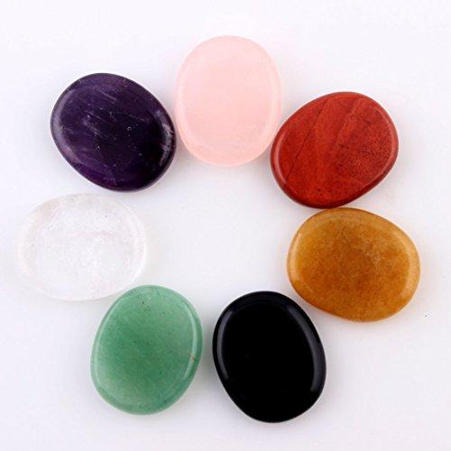 NATURAL Assorted 7pieces/lot Palm stone Crystal QUARTZ Reiki
