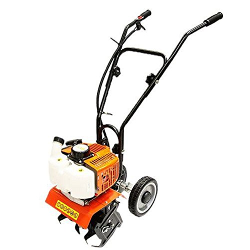 44 CC Grass Tiller Home Garden Gas Tiller Powered 2 Cycle Stroke Cultivator Walk Behind Grass soil by Eramaix