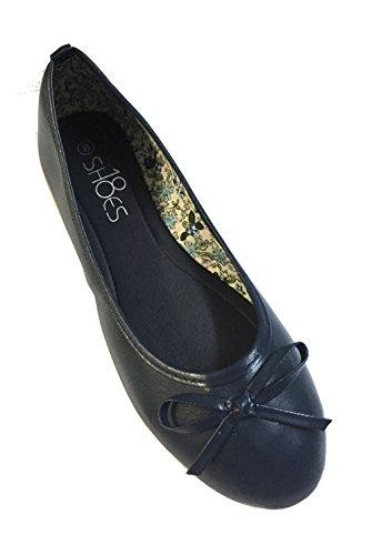 navy blue ballet flats - 6