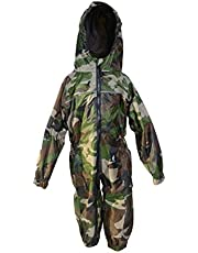 DRY KIDS Waterproof Rainsuit All in One for Boys and Girls