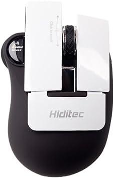 Hiditec Piano - Ratón (RF inalámbrico, Óptico, Oficina, Negro, Color Blanco, Mano Derecha, USB)
