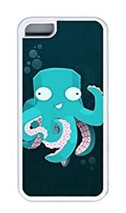 iphone 5C case,custom iphone 5C case,PC Material,Drop Protection,Shock Absorbent,Customize your own cell phone case pattern,white case,Cartoon octopus
