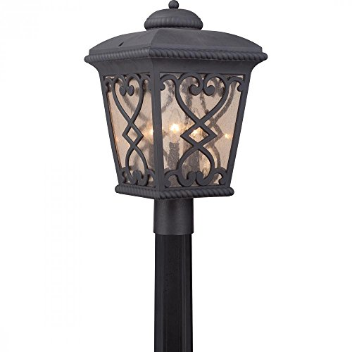 Quoizel FQ9011MK Three Light Outdoor Post Lantern ()