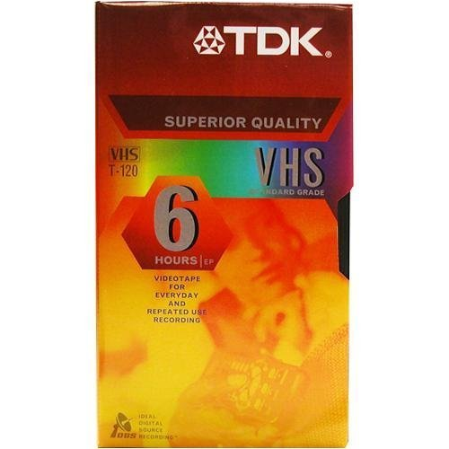 TDK T120RVAXS10 120 Minute Standard Video Tape - 10 Pack (Discontinued by Manufacturer)
