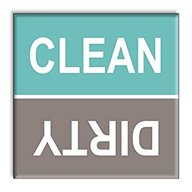 Clean Dirty Dishwasher Magnet Sign Indicator - Turquoise and Gray Beach Colors Style