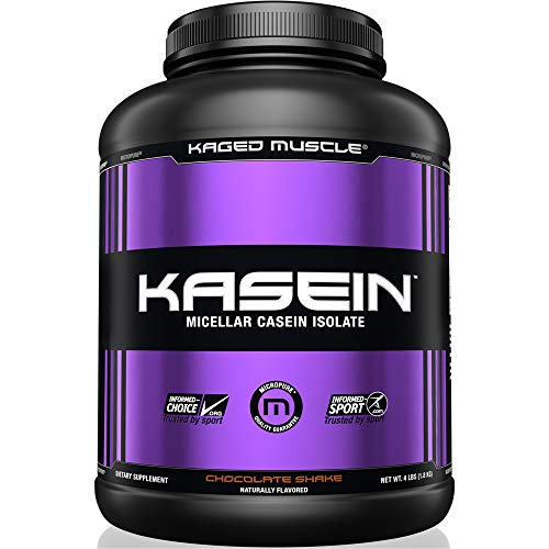 Kaged Muscle, Premium Kasein Protein Powder, Micellar Casein, Chocolate, Banned-Substance Free, Protein Supplement, Build Muscle, Boost Recovery, Casein, Chocolate, 50 Servings