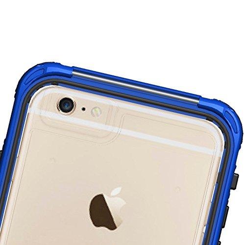 Phone Taschen & Schalen Für iPhone 6 Plus & 6s Plus ABS Material wasserdicht Schutzhülle mit Knopf & Fingerabdruck Unlock & Touchscreen Funktion ( Color : Dark Blue )