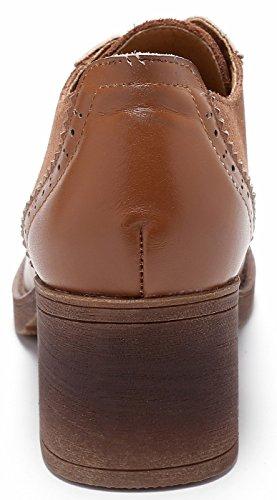 Chaussures Cuir Marron SimpleC De Suede Bureau Pieced Cuir Oxford Talon en Pompe Femmes Lacets Lacets Chaussures Comfy Vache en Up à à ZwZ1rPq