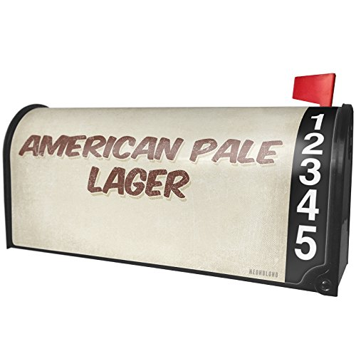 NEONBLOND American Pale Lager Beer, Vintage style Magnetic Mailbox Cover Custom Numbers